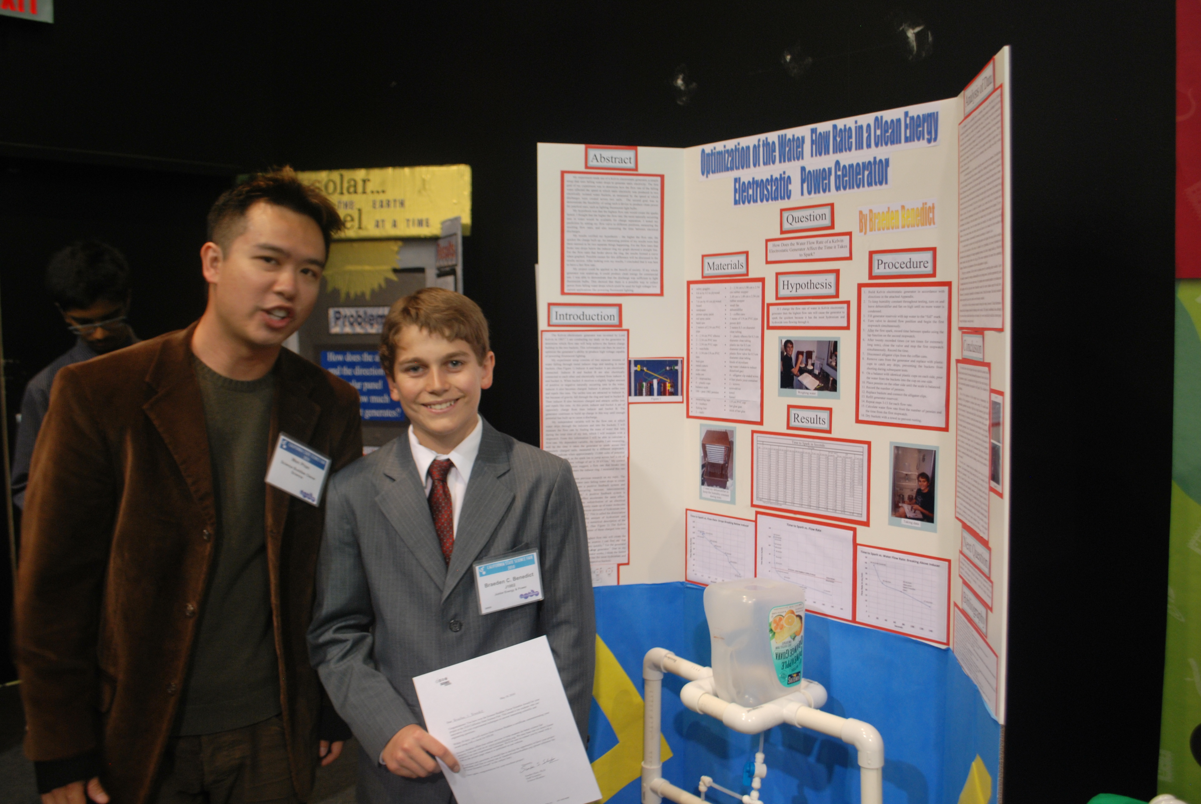 2010 California State Science Fair, Recognition Awards